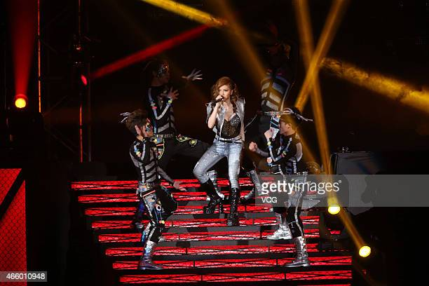 GEM performs onstage during GEM XXX Live World Tour at Taipei Arena on March 12 2015 in Taipei Taiwan