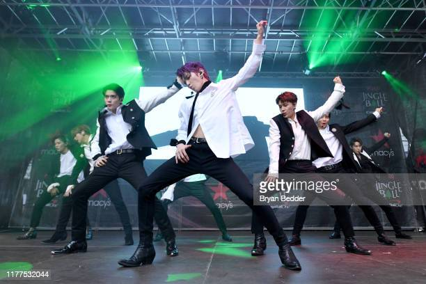 NCT 127 performs onstage during iHeartRadio's Z100 Jingle Ball 2019 presented by Capital One® official Kickoff at Herald Square Plaza on September 27...