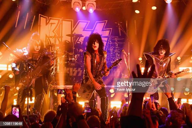 KISS performs onstage during KISS Performs Private Concert For SiriusXM At Whisky A Go Go In Los Angeles at Whisky a Go Go on February 11 2019 in...