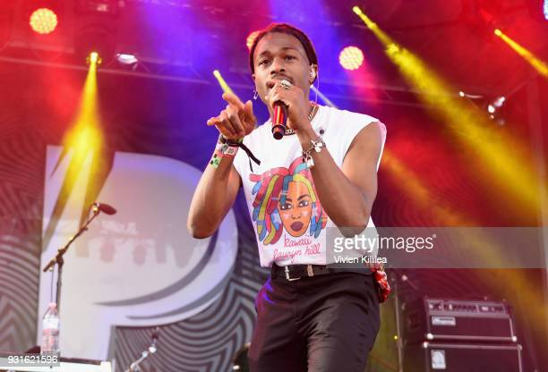 DUCKWRTH performs onstage during Pandora SXSW 2018 on March 13 2018 in Austin Texas