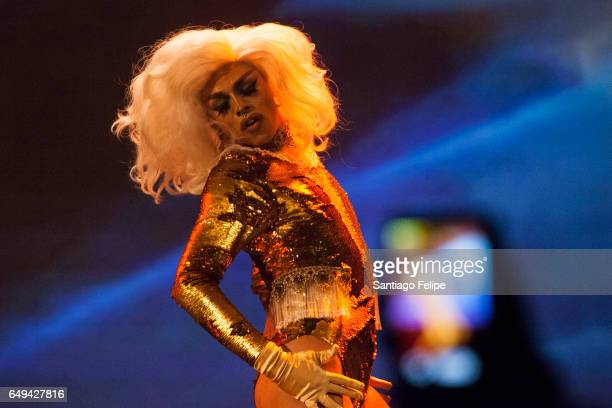 AJA performs onstage during 'RuPaul's Drag Race' Season 9 Premiere Party Meet The Queens Event at PlayStation Theater on March 7 2017 in New York City