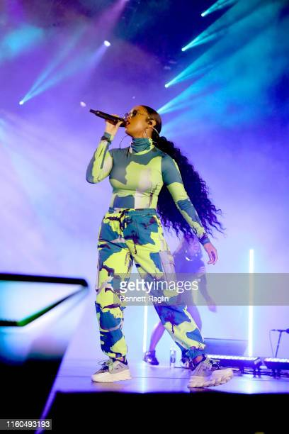 Performs onstage during the 2019 ESSENCE Festival Presented By Coca-Cola at Louisiana Superdome on July 06, 2019 in New Orleans, Louisiana.