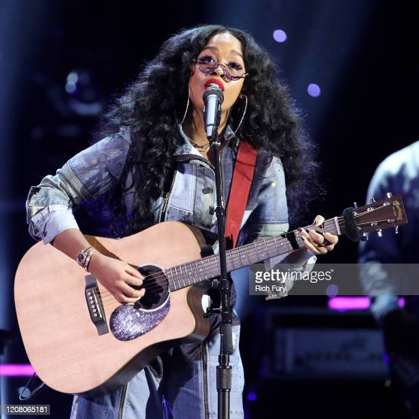 R performs onstage during the 51st NAACP Image Awards Presented by BET at Pasadena Civic Auditorium on February 22 2020 in Pasadena California