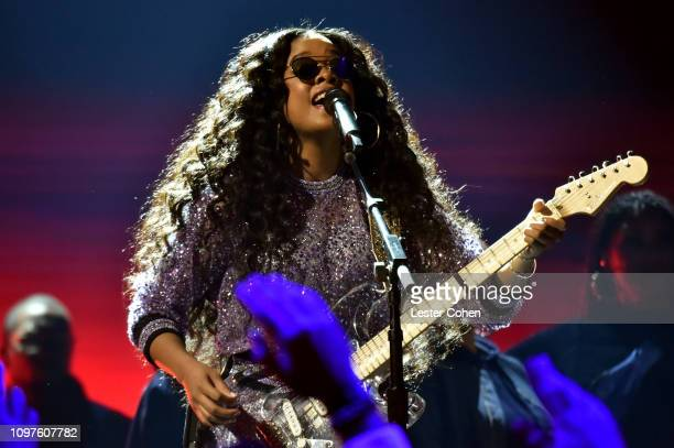 Performs onstage during the 61st Annual GRAMMY Awards at Staples Center on February 10, 2019 in Los Angeles, California.