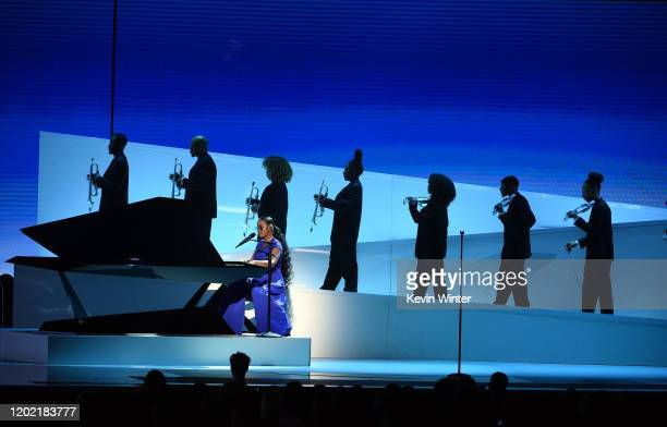 Performs onstage during the 62nd Annual GRAMMY Awards at STAPLES Center on January 26, 2020 in Los Angeles, California.