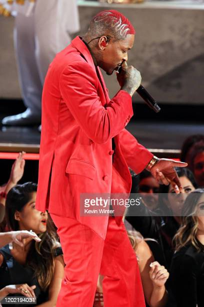 YG performs onstage during the 62nd Annual GRAMMY Awards at STAPLES Center on January 26 2020 in Los Angeles California