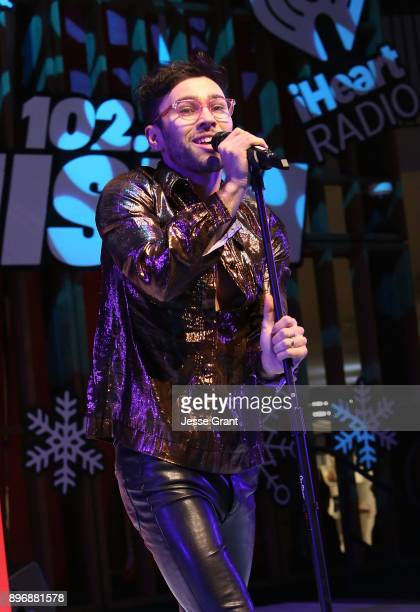 MAX performs onstage during the 'Live at the Atrium' Holiday Concert Series in Partnership with KIISFM Presented by Westfield Century City on...