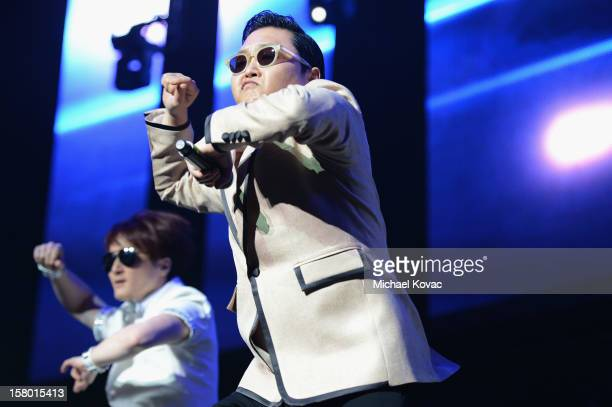 PSY performs onstage during the Y100's Jingle Ball 2012 at the BBT Center on December 8 2012 in Miami
