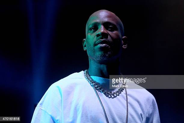 DMX performs onstage with DJ Snake during day 1 of the 2015 Coachella Valley Music And Arts Festival at The Empire Polo Club on April 17 2015 in...