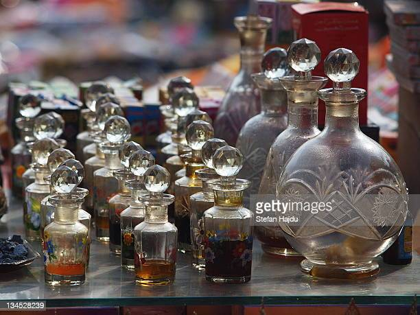 Perfume bottles in market for sale, India