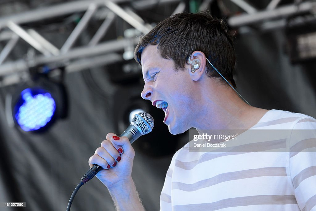 Perfume Genius performs during Pitchfork Music Festival 2015 at Union Park on July 19, 2015 in Chicago, United States.
