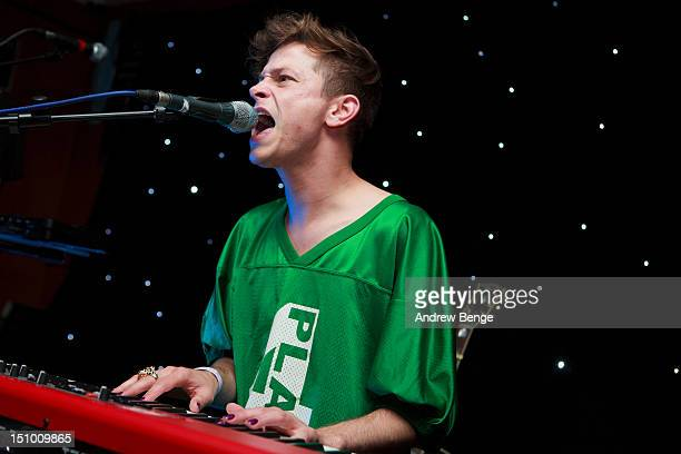 Perfume Genius performs on stage at Brudenell Social Club on August 30 2012 in Leeds United Kingdom