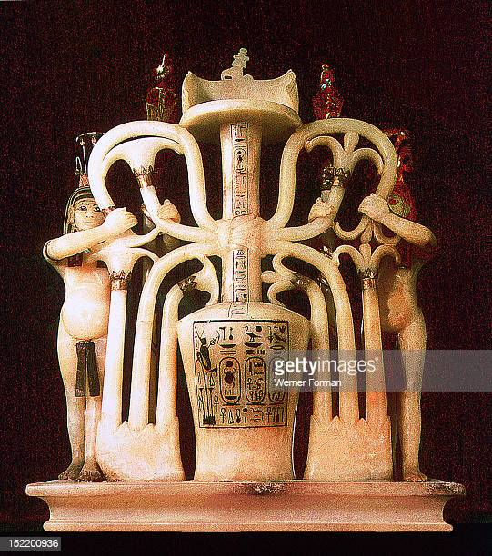 Perfume jar from the tomb of Tutankhamun Egypt Ancient Egyptian 18th dynasty c 1357 1349 BC Thebes Valley of the Kings