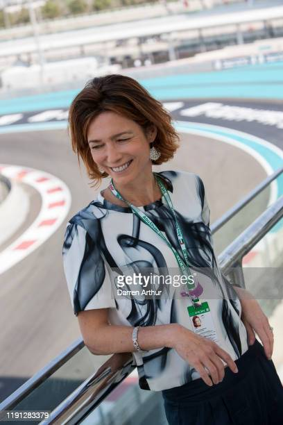Perfumer Emilie Cooperman at the launch of the F1 fragrance at the Formula 1 Etihad Airways Grand Prix Yas Marina Circuit on December 1 2019 in Abu...