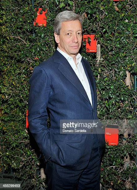 Perfumer Frederic Malle attends a private dinner in his honor hosted by Barneys New York and Gelila Puck at CUT Sidebar on December 11 2013 in...