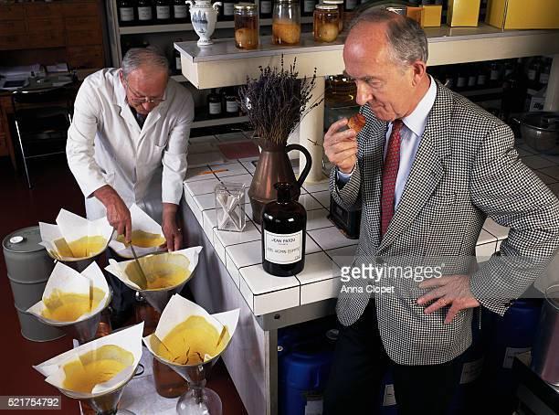 Perfumer Jean Kerleo Smelling Flowers Essence