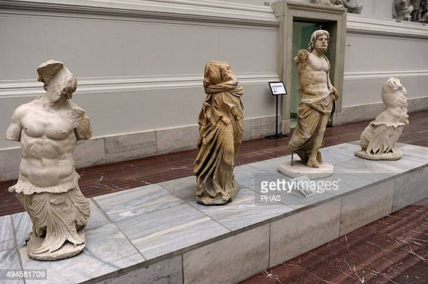 Pergamon Altar Built by order of Eumenes II Soter 164156 BC by artists of the school of Pergamon Decorative sculptures of the altar Tritons...