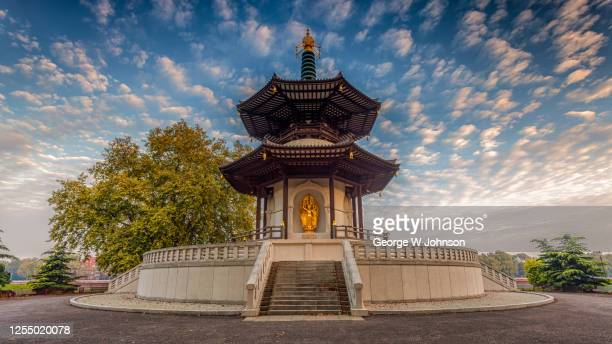 pergoda - battersea park stock pictures, royalty-free photos & images