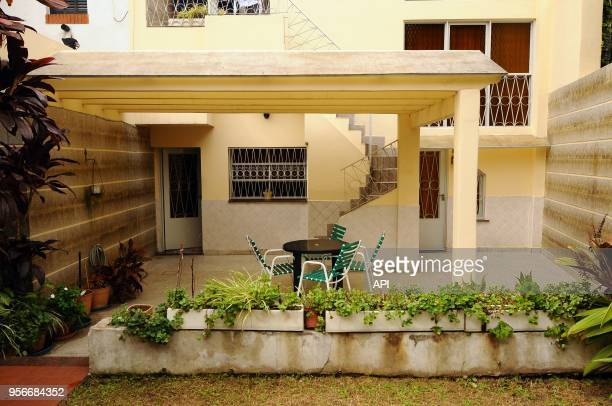 Pergola View of the roundabout in the patio of the house where Jorge Mario Bergoglio was raised the excardinal and actual Pope in Membrillar 531 in...