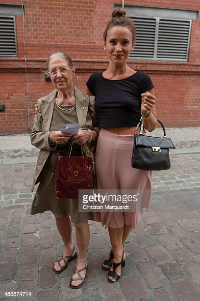Peri Baumeister and her grandmother Anna Eleonore attend Audi Classic Open Air at Kulturbrauerei on August 13 2014 in Berlin Germany