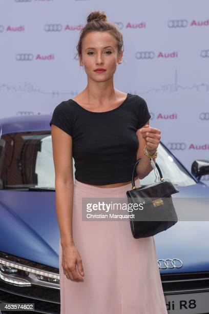 Peri Baumeister attends the Audi Classic Open Air at Kulturbrauerei on August 13 2014 in Berlin Germany