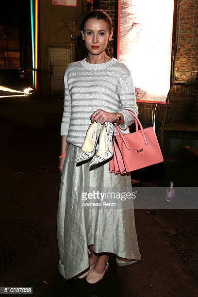 Peri Baumeister attends the Bavaria Film Party REBOOT on February 14 2016 in Berlin Germany