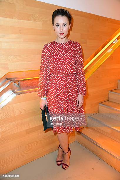Peri Baumeister attends the PantaFlix Party on February 17, 2016 in Berlin, Germany.