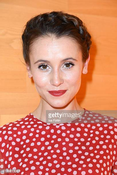 Peri Baumeister attends the PantaFlix Party on February 17 2016 in Berlin Germany