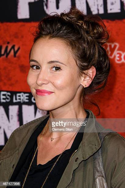 Peri Baumeister attends the premiere of the film 'Tod den Hippies Es lebe der Punk' at UCI Kinowelt on March 24 2015 in Berlin Germany
