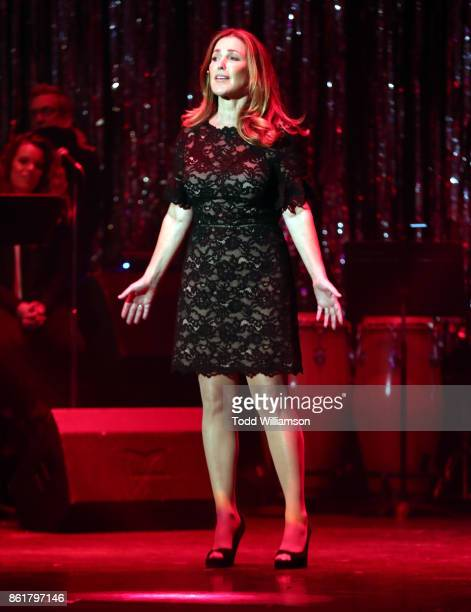Peri Gilpin performs onstage at National Breast Cancer Coalition Fund's 17th Annual Les Girls Cabaret at Avalon Hollywood on October 15 2017 in Los...