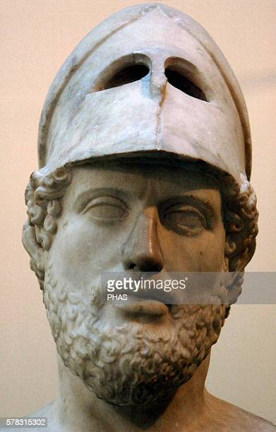 Pericles Greek statesman Orator and general of Athens during the Golden Age Roman copy of 2nd AD From Hadrian's Villa Tivoli Italy British Museum...
