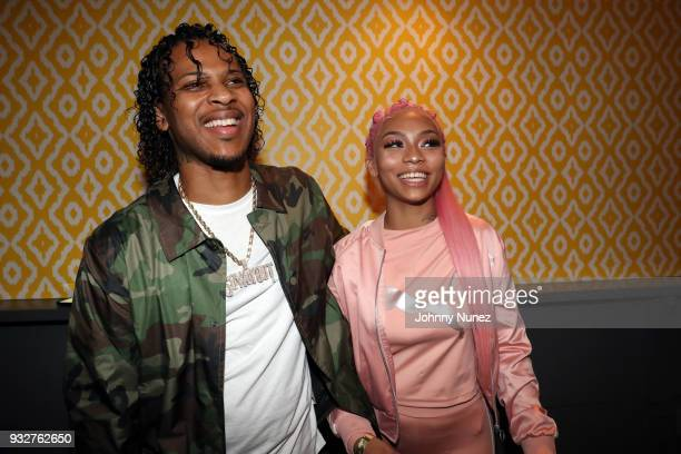 Perico and Cuban Doll attend The 7th Annual ICM x Cantu Official SXSW Showcase Presented by Bumble at The Belmont on March 15 2018 in Austin Texas