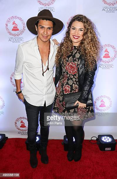 Periko Y Jessi Leon attend the Latin GRAMMY Acoustic Session Miami with Diego Torres at New World Center on November 3 2015 in Miami Beach Florida