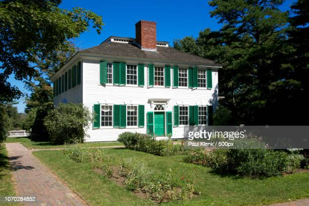 period house in sturbridge - sturbridge stock photos and pictures