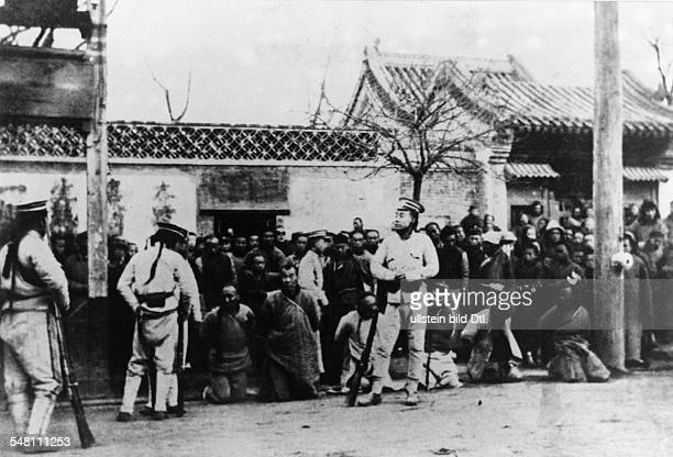 Period of the Revolution from Imperial soldiers with captured rebels before their execution no further details North China beginning of 1912