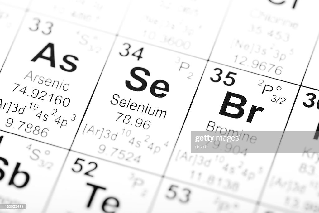 Periodic Table what family does arsenic belong to on the periodic table : Periodic Table Element Arsenic Selenium Bromine Stock Photo ...