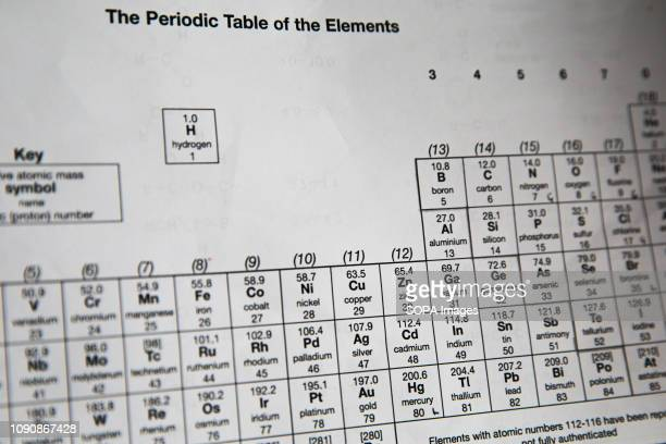 A periodic table is seen as it will celebrate its 150 years in March 2019 On 6 March 1869 Russian scientist Dmitri Mendeleev arranged the chemical...