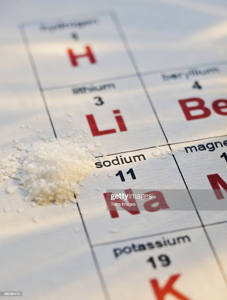Periodic table of elements and salt stock photo getty images periodic table of elements and salt stock photo urtaz Gallery