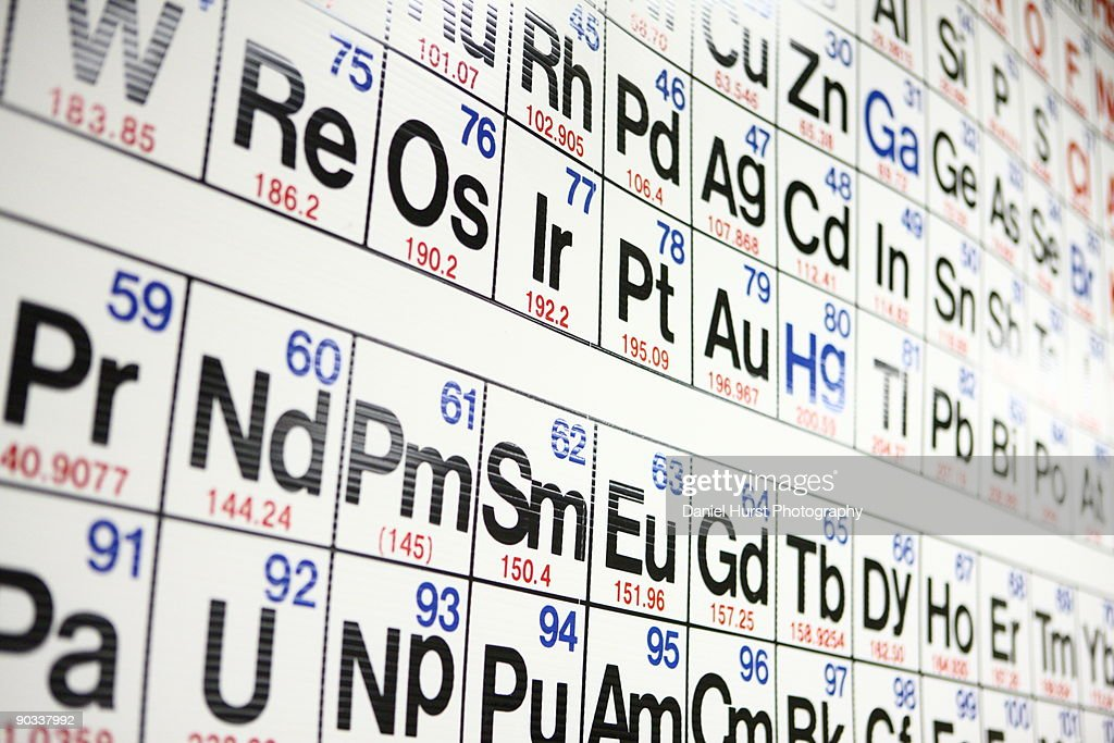 Periodic table : Stock Photo