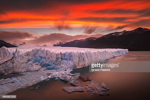 Perito Moreno Glacier at sunset