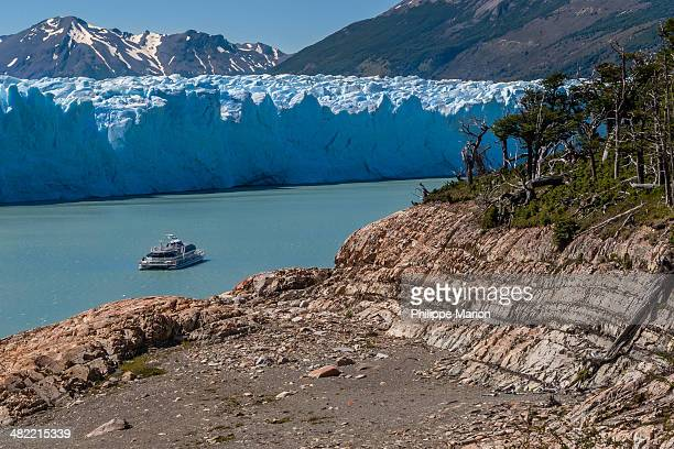 Perito Moreno glacier cruise boat  - Argentina