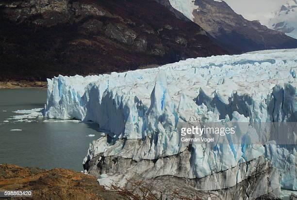 Perito Moreno glacier ice wall in Argentina
