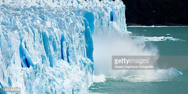 perito moreno glacier - environmental damage stock pictures, royalty-free photos & images