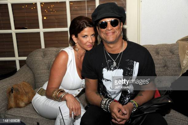 Perla Hudson and Slash atttend the official after party for Slahs's Hollywood Walk Of Fame star ceremony at Fairmont Miramar Hotel on July 10 2012 in...