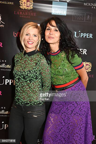 Perle Lagier and actress Catherine Wilkening attend the Upper Concept Store Launch Party on July 02 2016 in Paris France