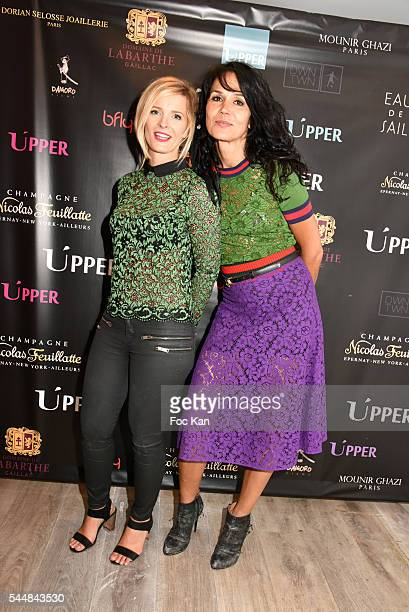 Perle Lagier and Catherine Wilkening attend the Upper Concept Store Launch Party on July 02 2016 in Paris France