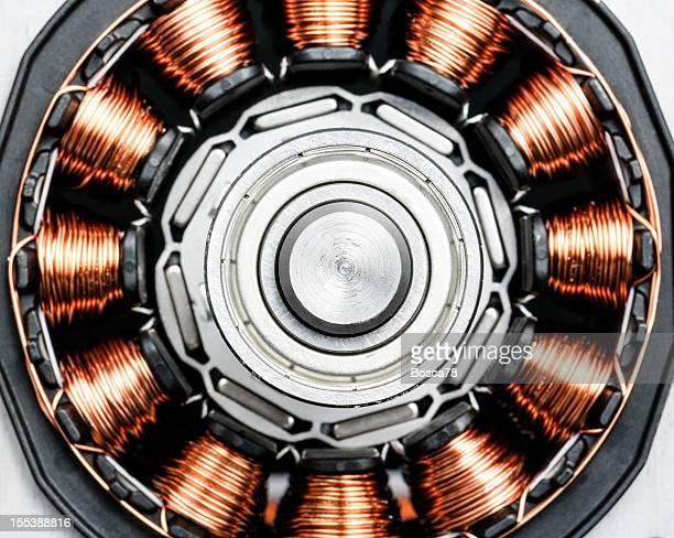 Dauerhafte magnet motor disassembled Nahaufnahme