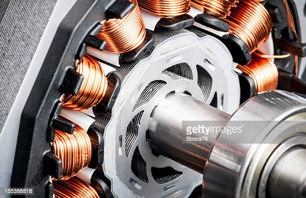 permanent magnet motor disassembled close-up - generator stock pictures, royalty-free photos & images
