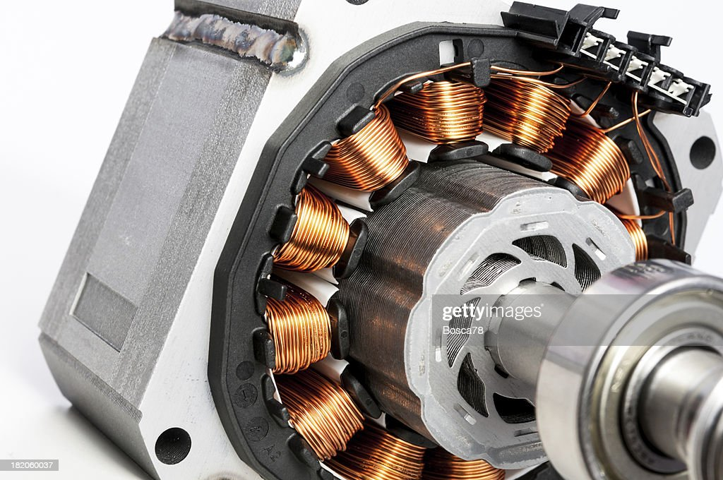 Permanent magnet motor disassembled closeup stock photo for Magnetic motor electric generator for sale