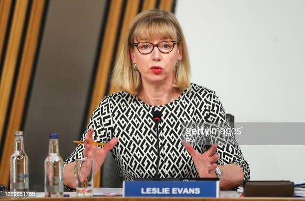 Permanent Secretary to the Scottish Government Leslie Evans gives evidence at the Committee on the Scottish Government Handling of Harassment...
